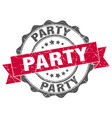 party stamp sign seal vector image vector image