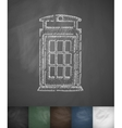 phone booth icon Hand drawn vector image vector image
