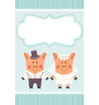 piggies newlyweds vector image