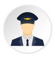 pilot icon circle vector image vector image