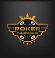 poker championship emblem vector image vector image
