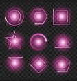purple glowing lights shape on black transparent vector image vector image