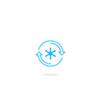 Refrigerator icon temperature control logo vector image vector image