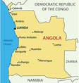 Republic of Angola - map vector image vector image