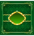 Royal template frame design for greeting card vector image vector image