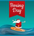 santa claus boxing day concept background cartoon vector image