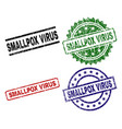 scratched textured smallpox virus stamp seals vector image vector image