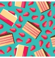 Seamless background with pattern of delicious vector image vector image