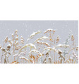 seamless border with meadow plants under vector image vector image