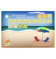 Set of 16 Discontinued Summer Sport Icons vector image vector image