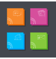 Set of the square post cards on the dark backgroun vector image vector image