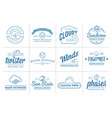 set weather icons and logotypes business vector image