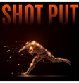 shot put athlete vector image