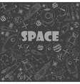 Space line art design vector image vector image