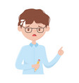 stressed employee man with pencil in hand isolated vector image