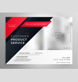 stylish red modern brochure design template vector image vector image
