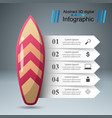 surfboard - business paper infographic vector image