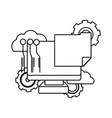 technology computing support cartoon vector image