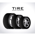 Tire design vector image
