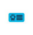 train ticket icon colored symbol premium quality vector image vector image