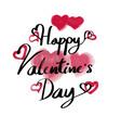 valentine day typography vector image vector image
