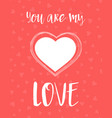 valentines card with cute heart vector image
