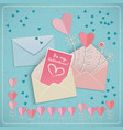valentines envelopes set vector image vector image