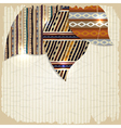 Vintage background with African paintings vector image vector image