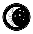 waning crescent vector image vector image