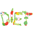 Word diet from food vector image vector image