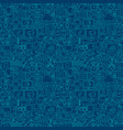 digital marketing line seamless pattern vector image