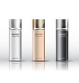realistic cosmetic bottles vector image