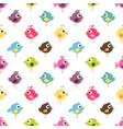 seamless pattern with cute colorful birds vector image