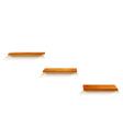 Wood shelves vector image