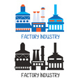 Factory icon for logo or design element vector image