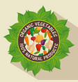 100 percent natural label vector image vector image