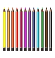 A set of colored pencils vector image vector image