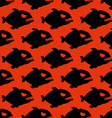 Aggressive seamless pattern from Piranha Fish vector image