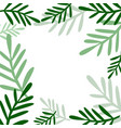 background with plants vector image vector image