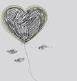 Balloon - heart vector image vector image