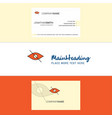 beautiful not seen logo and business card vector image