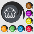 business team icon sign Symbol on eight colored vector image vector image
