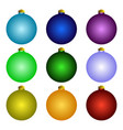 christmas and new year toys set vector image vector image