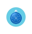 Colorful Icon Christmas Blue Ball with Snowflake vector image vector image