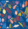 colorful leaves blue red yellow orange pink vector image vector image