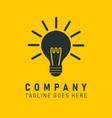 company logo icon light bulb vector image vector image