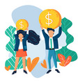 concept of gender pay gap vector image