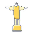 cristo redentor icon cartoon style vector image vector image