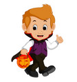 cute dracula cartoon vector image vector image