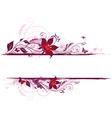 Decorative background with violet flowers vector image vector image